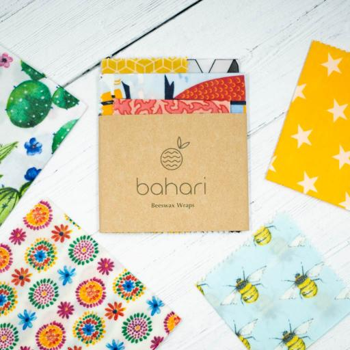 Reusable Beeswax Wraps - 4 Pack