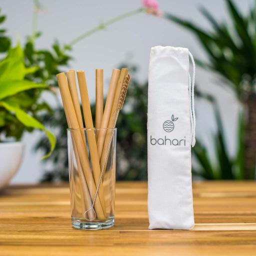 Bamboo Straws (Reusable) - Pack of 8
